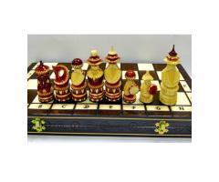 Шахматы деревянные 29 см компактные светлые
