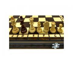 Турнирные 4 шахматы 40 см дерево, темная доска