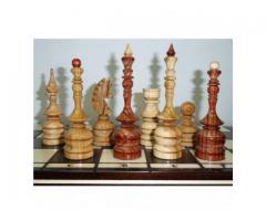 Шахматы 50 см Лакированный дуб ручная резьба