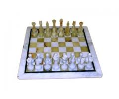 Шахматы каменные 40 см оникс - мрамор из ценных сортов натурального камня