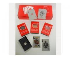 Карты игральные покерные пластик