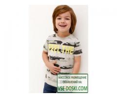 Футболки Acoola Футболка детская для мальчиков с камуфляжным принтом цвет серый размер 98 2012011009