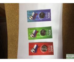 Сувениры монеты Чемпионат мира по футболу 2018 РФ